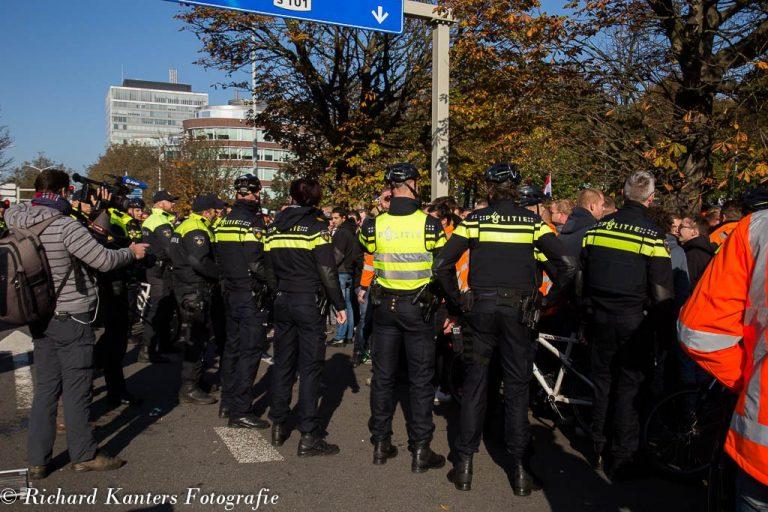 Politie zocht expres confrontatie met demonstranten Malieveld
