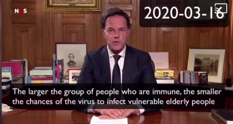 Rutte vergeet zijn eigen woorden over GROEPS IMMUNITEIT